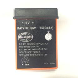 Batteria 6V 1500mAh di telecomando Ba225030 della pompa per calcestruzzo di Hbc Radiomatic