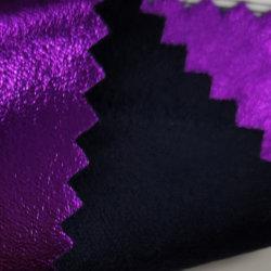 Das 90% Polyester10% Spandex-Leuchtstoffveloursleder-Membrane gestricktes Gewebe Jersey verpfändete mit Membranen-Kleid-Sofa-Gewebe