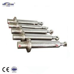 Anpassen Edelstahl Gehäuse Material 304 316 RAM Double Acting Teleskop-Langhub Einstufig Geschweißt Hydraulikkolben Zylinder Hersteller