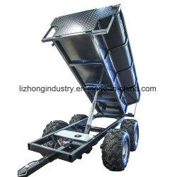 Remorque pour ATV, remorque de la Chine ATV, remorque de ferme d'ATV, remorque simple d'essieu