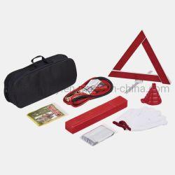 Kit de réparation de voiture Outil Jeu de réparation auto voiture d'urgence Tool Kit Triangle de présignalisation voiture Kit d'outil d'urgence de la sécurité routière