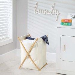 휴대용 접을 수 있는 접히는 아이 아기 저장은 대나무 더러운 세탁물 바구니 버들고리를 편성한다