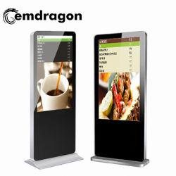 Lecteur Ad LCD 32 pouces capacitif-de-chaussée de la publicité permanent joueur avec affaire des magazines et de la publicité d'affichage à LED avec lecteur de carte SD USB