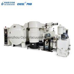 Les pièces en plastique Cicel revêtement sous vide Machine/bouchons de l'équipement de revêtement en aluminium/Teinteuse vide