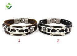 Braccialetto di cuoio alla moda della retro Tutto-Corrispondenza di cuoio del braccialetto della Non-Corrente principale