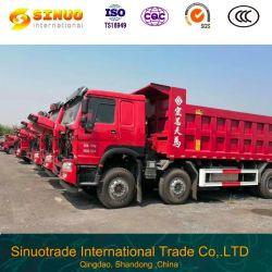 使用されたダンプトラック12の車輪HOWO Sinotruk秒針のダンプカートラック8*4最もよい状態の競争価格の熱い販売50トンの頑丈なトラック7.6mの貨物ユーロ4の