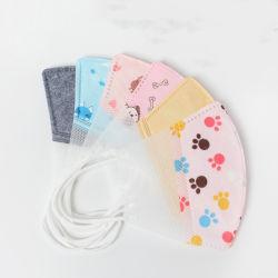 As crianças crianças Face Fabricmask de algodão com substituição do filtro de carbono ativo Pm2,5 para prova de pó Reusablemask