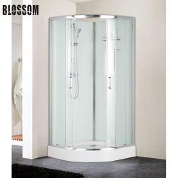 El cuarto de baño Caja de cabina de ducha de vidrio Casa con bastidor de aluminio cromado