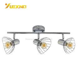 Ronda E14 9W máx. 18W 27W vaciar la plata la vía de techo LED de hierro de la luz Spot Focus