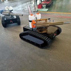 De Robot van de desinfectie, het RubberLandingsgestel van het Spoor met Mistige Machine