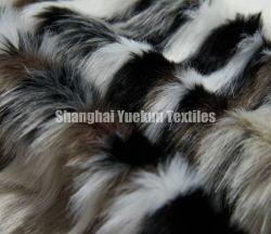 多彩なのどの毛皮の卸売の偽造品の毛皮ファブリック長い山ののどの毛皮のプラシ天ファブリック