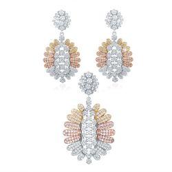 Form-Schmucksache-Set, indische amerikanische Diamant-Form-Halsketten-Sets