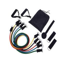 Fertigung-Zubehör-Eignung-Geräten-Trainings-Widerstand versieht Übungs-Zugseil-Gefäße des Latex-11PCS mit einem Band