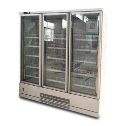 Loja Comercial Chiller de Armazenagem Fria Alimentar Bebidas Exibir Frigorífico frigorífico de grande capacidade