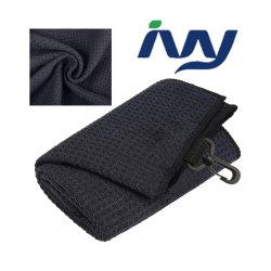 منشفة جولف تييري مصنوعة من الألياف الدقيقة من الخيزران والوافل للبيع الساخن مع مقاومة للماء