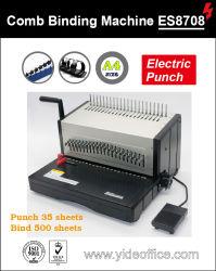 Формат A4 базы для тяжелого режима работы электрического гребень для скрепления клеем ES8708 для пробивания отверстий