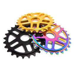 Partes de bicicletas liga 25t 6061 Bike CNC as rodas dentadas de alumínio anodizado