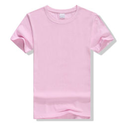 Goedkope Promotionele T-Shirt Kleding Custom Logo Printed 15% katoen 85% Poly-Blended Fashion Sports Wear Dames′ S&men T-shirt