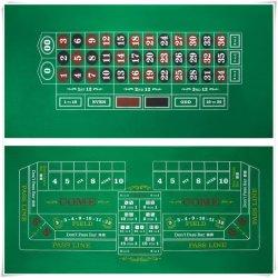 Jeu de Poker imprimé feutre vert mat chie la table de roulette estimé