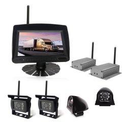 7-pulgadas de 4CH digital inalámbrico 2.4G (Opcional) Vista trasera del monitor con cámara de copia de seguridad