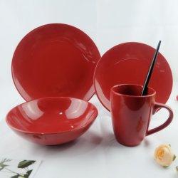 Керамики фарфора ужин для красного цвета