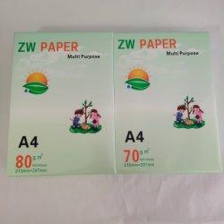 A3 A4copy 서류상 70GSM 75GSM 80GSM 500 장 또는 다량의 종이 백색 인쇄 종이