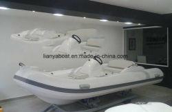 Liya 4.3m Kleine Opblaasbare het Roeien van de Rib van de Boot van de Motor van de Glasvezel Boot