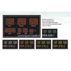 LED eletrônico controlado por rádio automático display digital da temperatura do Relógio do Calendário