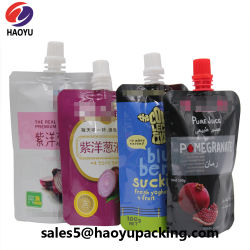 비닐 봉투 식품 포장 부대 요구르트 우유 주스를 위한 유기 유아식 짜기