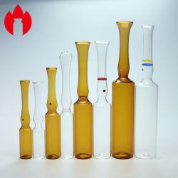 1ml de 2ml 5 ml 10ml Injecção Farmacêutica transparente ou âmbar da ampola de vidro