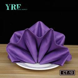 Dîner au restaurant de gros de serviettes serviettes en tissu de polyester 100 Cheap