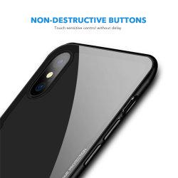Novo Design à prova de luxo da Tampa Traseira da Estrutura TPU com Tampa da Caixa de telefone de vidro temperado para Apple iPhone x 7 Caso
