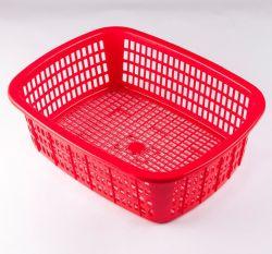 Nahrungsmittelgrad-Polypropylen-Quadrat-Form-kleines Plastikkorb-Spritzen für das Speichern des Nahrungsmittelfrucht-Gemüse-preiswerten Preises