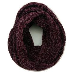 Insieme della protezione del cappello della sciarpa del Chenille della signora Winter Warm Fashion Knitting