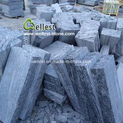Riss versieht Nero Santiago grauer Granit-Stützmauer-Block mit Seiten