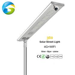 긴 시간 효율 60W 80W 100W 솔라 LED 스트리트 조명 구속