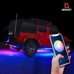 2pcs 150cm/60pouce Multi Color SMD5050 Flexible Strip Light LED RVB pour la voiture bateau Camping RV Van Offroad chariot