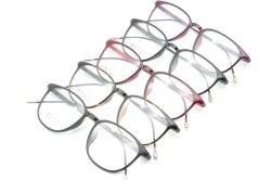 De fabriek verkoopt de Super Lichte Halve Plastic Frames Eyewear van het Ontwerp van de Manier van het Staal Nieuwe Optische