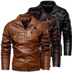 Le design de mode hommes manteau de cuir d'hiver Veste chaude de moto d'affaires décontractée vestes manteau pour les hommes avec le meilleur prix