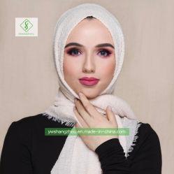 Plaine de haute qualité Frilly Tr Hijab Fashion foulard musulman de coton