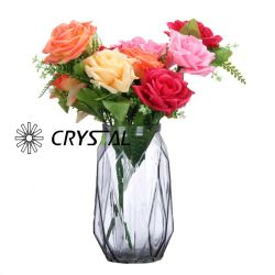 Círculo redonda União moderna vaso de vidro colorido para decorar e Wedding