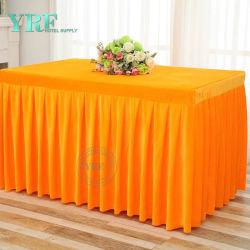 Tissu plissé pour Mariage Royal Jupe de table