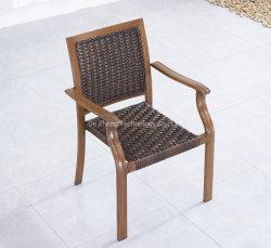 날씨 저항 등나무 의자를 식사하는 안뜰에 의하여 주조되는 알루미늄 옥외 정원 의자