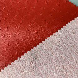 Vegan artificiale del PVC del reticolo resistente all'uso dello struzzo per la borsa del sacchetto della traversa della borsa del sacchetto