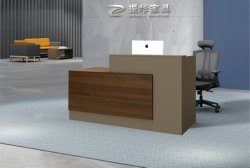 Scrittorio di ricezione di legno utilizzato moderno del contatore delle forniture di ufficio di disegno della parte anteriore di lusso del commercio all'ingrosso