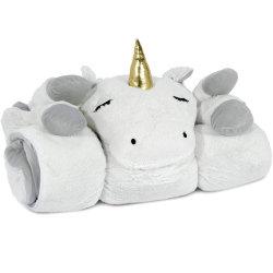 독특한 침대 여행 베개 유아용 토들러 플러쉬 장난감 박제 동물 어린이 수면 가방