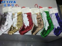 Nixesequin-Kippen-Weihnachtssocken für Sublimation-Drucken