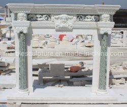 Bellissima mano interna decorativa intagliata con Figura immagine Camino in marmo (SYMF-393)