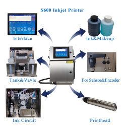 4 regels Automatische flessenlabels Coding machine vervaldatum inkt Fabrikant van de jet-printer