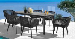 Modernes im Freien Freizeit-Seil-Speisetisch-Set